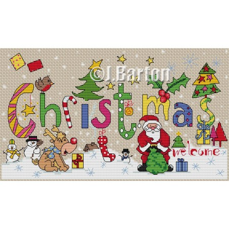 Christmas welcome (cross stitch chart by post)