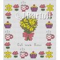 Get well soon cross stitch chart