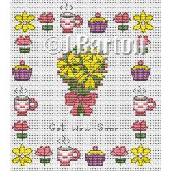 Get well soon (cross stitch chart download)