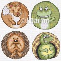 Cute animals cross stitch chart