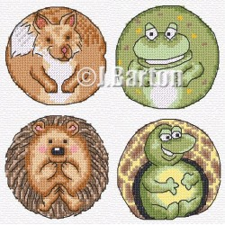 Cute animals (cross stitch chart by post)
