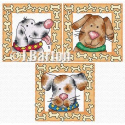 Fun dogs (cross stitch chart by post)