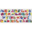 Gifts alphabet cross stitch chart