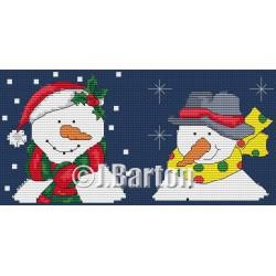 Snowmen (cross stitch chart download)