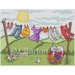 Wash day (cross stitch chart download)