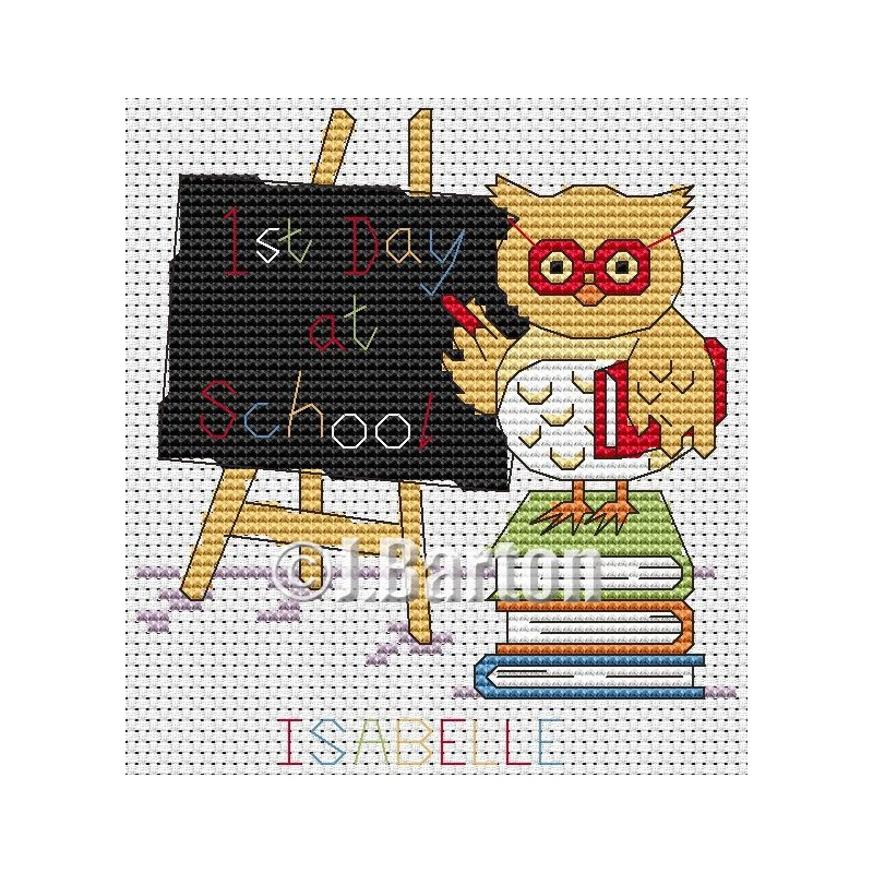 First day at school (cross stitch chart download)