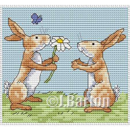 Rabbits (cross stitch chart download)
