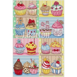 Cupcakes (cross stitch chart download)