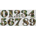 Camouflage numbers (cross stitch chart download)