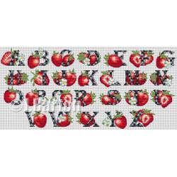Strawberries alphabet (cross stitch chart download)