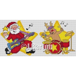 Rock 'n' Roll Christmas (cross stitch chart download)