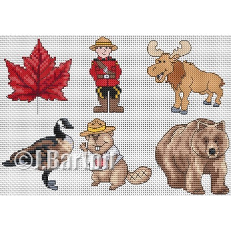 Canada Collection (cross stitch chart download)