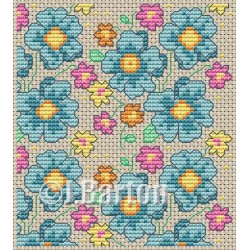 Floral pattern (cross stitch chart download)