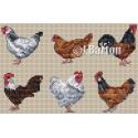 Chickens (cross stitch chart download)