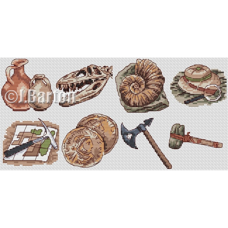 Archaeology (cross stitch chart download)