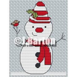 Snowman cross stitch chart