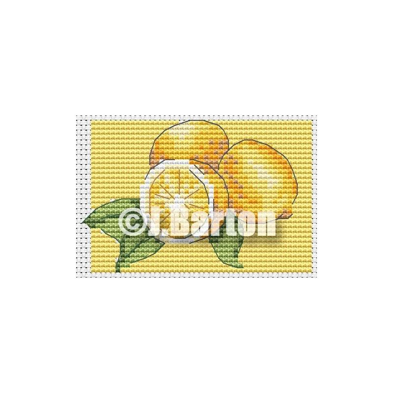 Lemons cross stitch chart