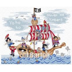 Pirates Ship (cross stitch chart download)