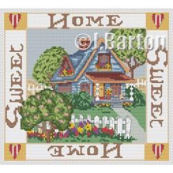 Home sweet home sampler cross stitch chart