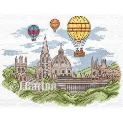 Hot air balloons cross stitch chart