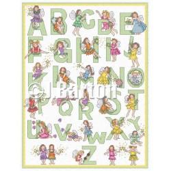 Fairy alphabet cross stitch chart