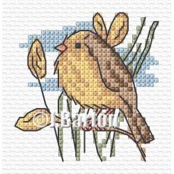 Garden warbler (cross stitch chart download)