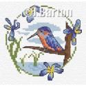 Kingfisher cross stitch chart