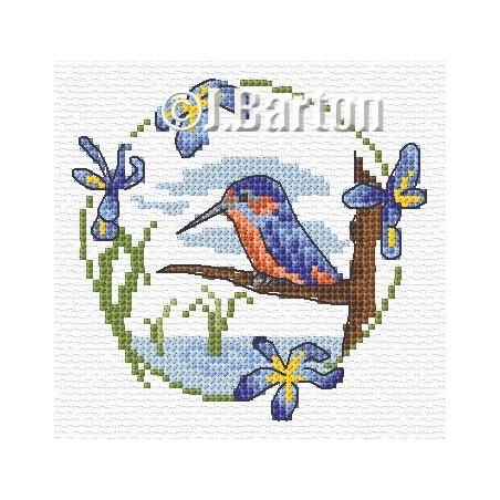 Kingfisher (cross stitch chart download)