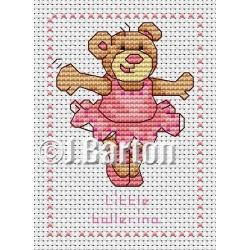 Little ballerina cross stitch chart