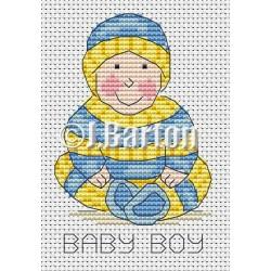 Baby boy cross stitch chart