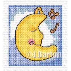 Lullaby moon cross stitch chart