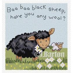Baa baa black sheep cross stitch chart