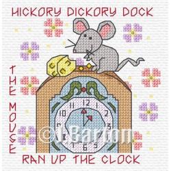 Hickory dickory dock cross stitch chart