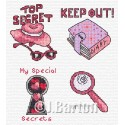 Top secret girl! Cross stitch chart