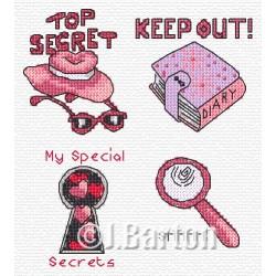 Top secret girl! (cross stitch chart download)
