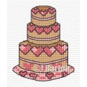 Love heart cake cross stitch chart