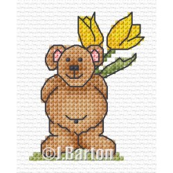 Surprise bear cross stitch chart