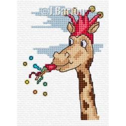 Silly giraffe cross stitch chart