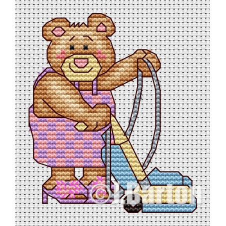 Spring cleaning (cross stitch chart download)
