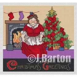 Christmas greetings (cross stitch chart download)