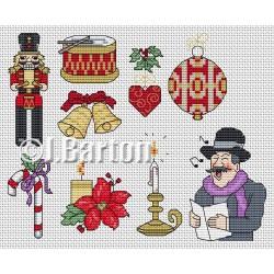 Vintage Christmas motifs (cross stitch chart download)