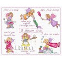 Housework fairies (cross stitch chart download)