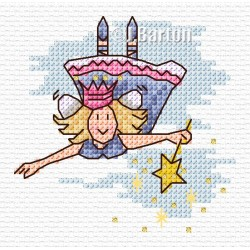 Flying fairy cross stitch chart