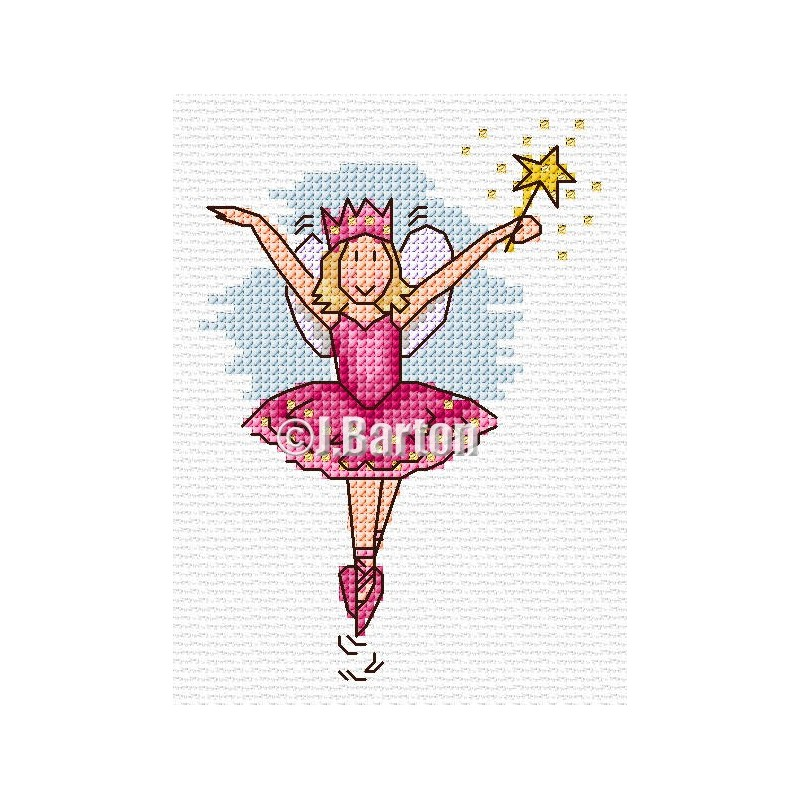 Pretty fairy cross stitch chart