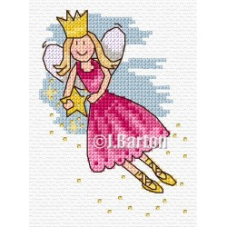 Shooting star fairy cross stitch chart