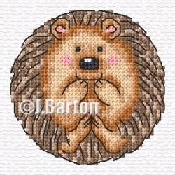 Cute hedgehog cross stitch chart