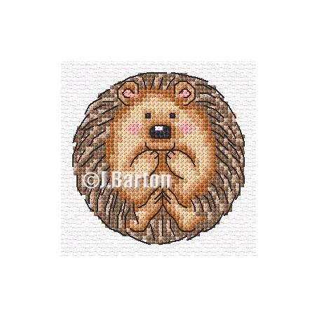 Cute hedgehog (cross stitch chart download)