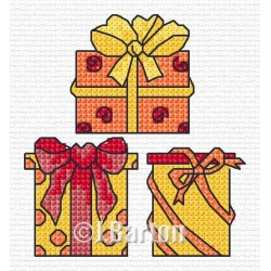 Time for presents cross stitch chart