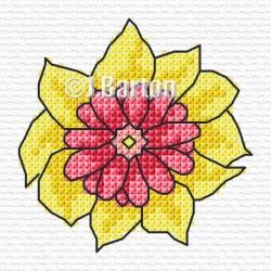 Single flower cross stitch chart