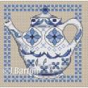 Delft teapot cross stitch chart